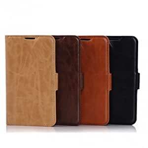 Flip Crazy Horse Side Buckle Wallet Case For Sumsung Galaxy S5 I9600 --- Color:Black -Big Paw Trading