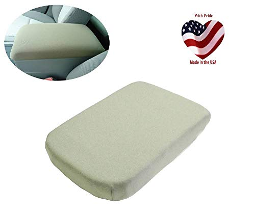 Car Console Covers Plus Made in USA fits Subaru Outback SUV 2015-2019 Neoprene Center Armrest Cover for Auto Console Lid Tan