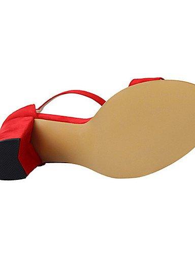 Zapatos 5 cn38 us8 gray Almendra black eu39 us7 Rosa eu39 de Vell¨®n Tacones 5 Tac¨®n Negro gray cn39 us8 eu38 ZQ Rojo Casual uk5 Gris uk6 Tacones cn39 mujer uk6 Robusto dF6xFRAw