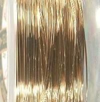 Gold Fill Wire - Gold Filled 14/20 Jewelry Wire 26 Gauge Soft 2 (Qty=2-feet)