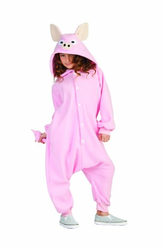 Penelope Pig Child Large Pink Funsie (Pig Costume For Child)