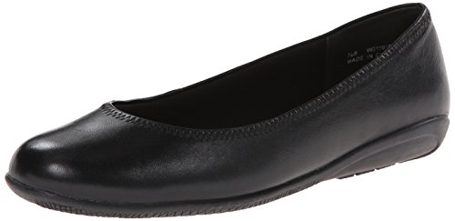 Walking Cradles Elite Women's Faye Skimmer Flat,Black Leather,10 M - Walking Cradles Elites