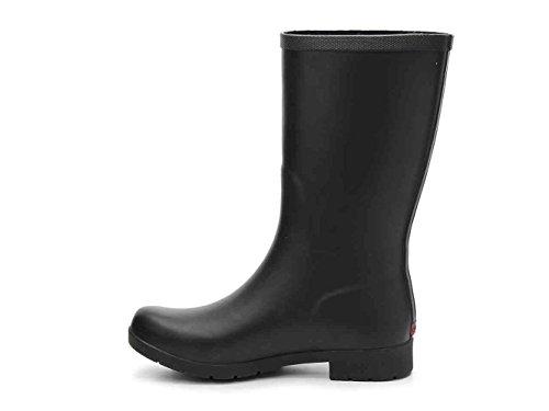 Chooka Womens Fremont Rubber Closed Toe Mid-Calf Rainboots, Black, Size 6.0