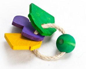 Image of Sisal Keyring Rabbit Toy