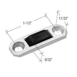 Locking Handle Strike Plate - C.R. LAURENCE H3604 CRL Aluminum Locking Handle Strike Plate 9/32