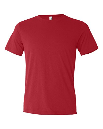 Bella 3650 Unisex Poly-Cotton Short Sleeve Tee - Red, Small