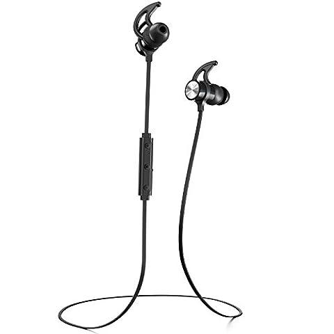 Phaiser BHS-730 Bluetooth Headphones Runner Headset Sport Earphones with Mic and Lifetime Sweatproof Guarantee - Wireless Earbuds for Running, (Bling Bluetooth Headset)