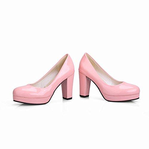 Carolbar Women's Candy Color Fashion Platform High Heel Court Shoes Pink jBrqDXmlQG