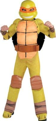 Amscan Teenage Mutant Ninja Turtles Michelangelo Muscle Halloween Costume for Boys, Small, with Included Accessories -