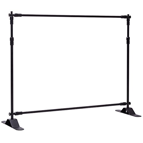 Giantex 8'x8' Banner Stand Adjustable Backdrop Telescopic Trade Show Display with Carrying Case