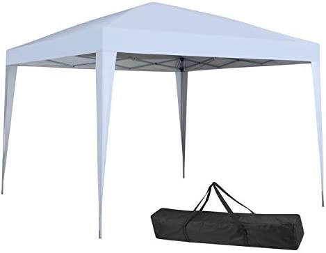 10×10 Ft Pop Up Canopy Tent Outdoor Beach Party Instant Gazebos White