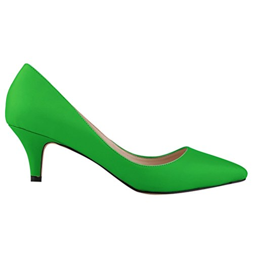 Chaussures Talon Cuir WanYang en Cheville Haut Soirée Nu Vert Escarpin Pointue Lanière Femme pieds Fluorescent Bride OBHBxnwzSq