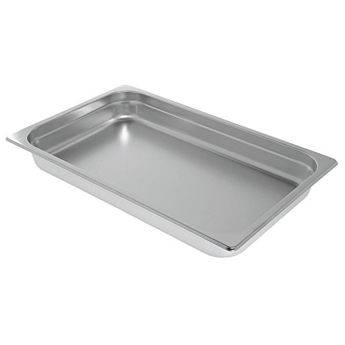 HUBERT Induction Chafer Food Pan Full Size 9 1/2 Quart Stainless Steel - 21