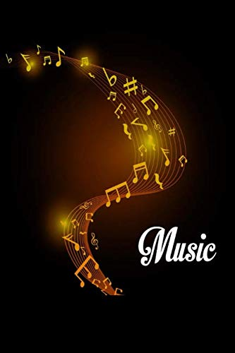 Music: Music Songwriting Journal: Blank Sheet Music, Lyric Diary and Manuscript Paper for Songwriters and Musicians (Gifts for Music Lovers) Golden Music Swirl