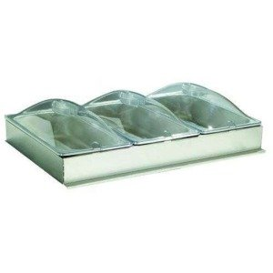 Third Size Inset Buffet Server with Plastic Lids