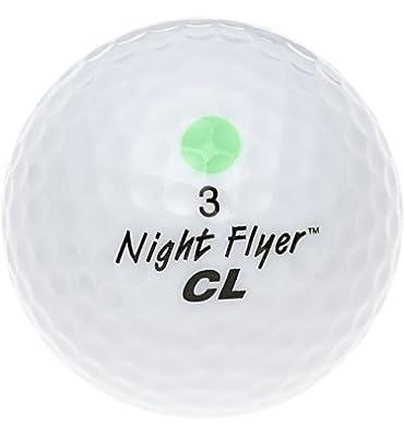 Night Flyer Golf Light Up High Visibility LED Golf Ball, Green