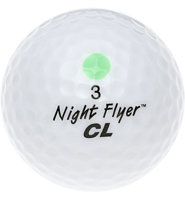 Night Flyer Golf Light Up High Visibility LED Golf Ball, -