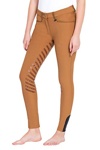 Breech Extended Patch - Equine Couture Ladies Nora Extended Knee Patch Breeches | Ladies Horse Riding Equestrian Breeches | Size - 28