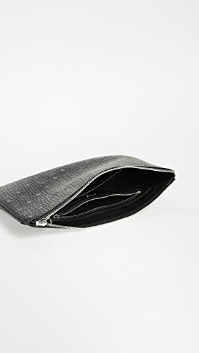 Black Visetos Pouch Women's MCM Medium wPqOOA