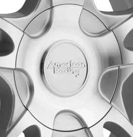 Deal on Wheels American Racing AR919CAPB-SM Center Cap Silver Machined fits ALL Size AR919