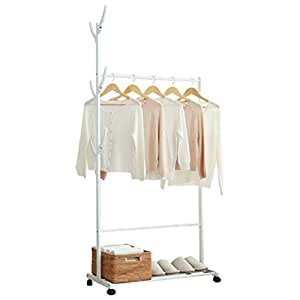 Amazon.com: WYQSZ Multifunctional Clothes Rack Bamboo, Floor ...
