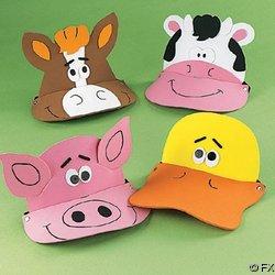 (12 Foam Farm Animal Visors - Fun Party Hats)