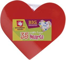 Foam Shapes 35/Pkg-Hearts