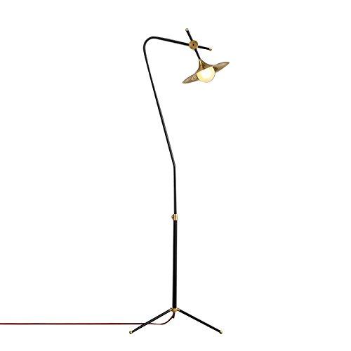 BODENLEUCHTE, LED Eiserner Glasschirm Stehleuchte Nordische moderne, einfache Persönlichkeitskreativität Stehleuchte Wohnzimmer Studie Schlafzimmer Stehleuchte Wirkungsgrad: A +++