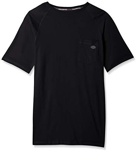 Retail Black T-shirts Dog - Dickies Men's Short Sleeve Performance Cooling Tee, Black, L