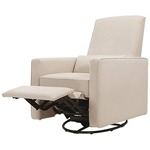 DaVinci Piper Upholstered Recliner and Swivel Glider, Cream (Upholstered Glider)