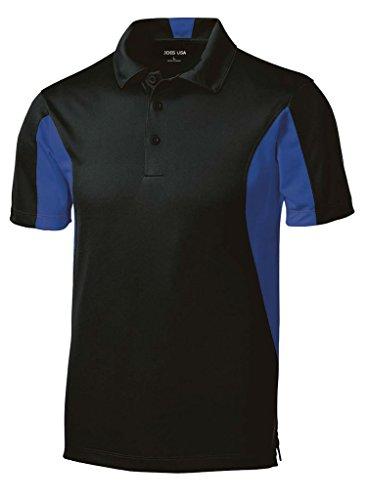Joe's USA(tm Micropique Tall Polo's in Size 2X-Large Tall -2XLT Black/True Royal