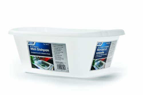 Camco Sink (Camco Mini Dish Wash Pan - Perfect for RV Sinks, Marine Sinks, Compact Kitchen Sinks, Camping and Outdoors - White (43516))
