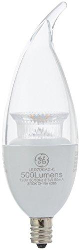 GE LED 60 Watt Equivalent Soft White Candelabra Base Dimmable Clear Finish LED Lightbulb, 2 Pack