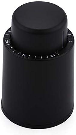 WDEC Bomba de Vació con Tapones, Tapón de Botella de Vino, Tapón de Champán al Vacío Real, Tapón de Vino Reutilizable, Corchos de Vino para Mantener Fresco, Amantes del Vino
