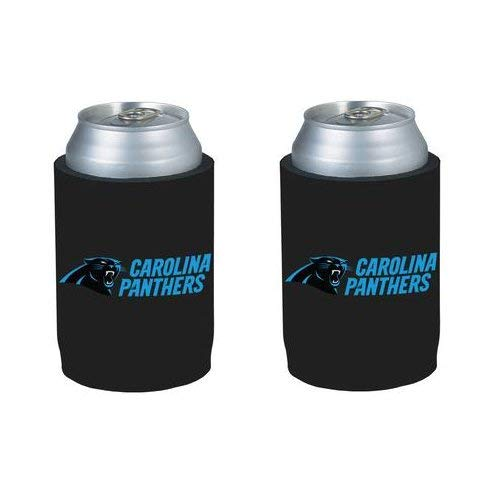 NFL Football Can Insulators - Neoprene Beer Can Kolder Holders, Set of 2 (Panthers)