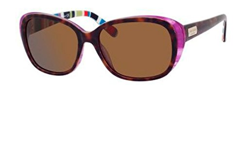 Kate Spade Sunglasses - Hilde P / Frame: Tortoise Purple Striped Lens: Dark Brown Polarized-HildePSX72P