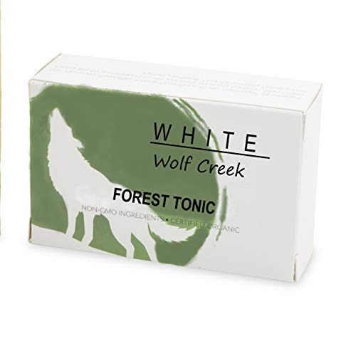 All Natural Organic Soap, Skin Bar Soap for Hands, Face, and Body, Set of Two Bars - White Wolf Creek (Forest Tonic)