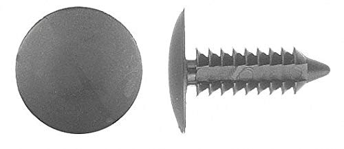 Ribbed Push In Rivet, Nylon, 7/32'' Dia, 3/4'' L, 0.219'', Black - pack of 5 by Unknown