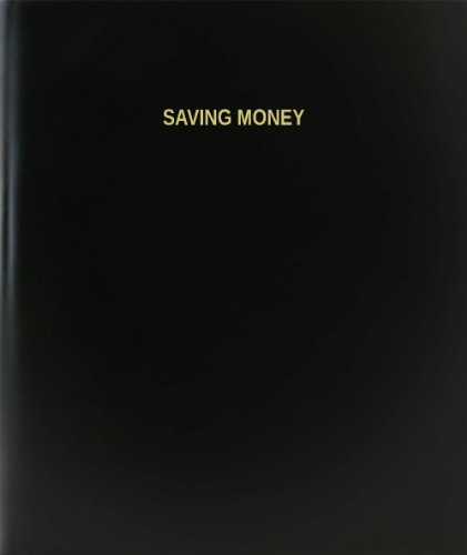 BookFactory® Saving Money Log Book / Journal / Logbook - 120 Page, 8.5''x11'', Black Hardbound (XLog-120-7CS-A-L-Black(Saving Money Log Book)) by BookFactory