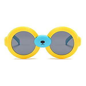 modesoda Toddler Round Polarized Sunglasses Ages 3-5 Yrs Kids with Cute Nose Fresh Colors