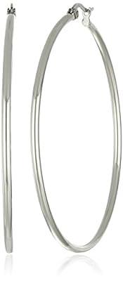 Stainless Steel Rounded Hoops Earrings (50mm Diameter)