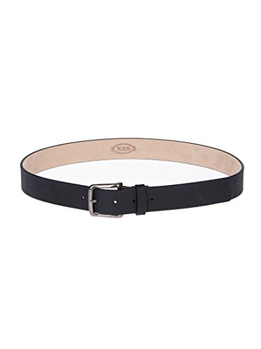Tod's Men's Xcmcp610100eptb999 Black Leather Belt by Tod's