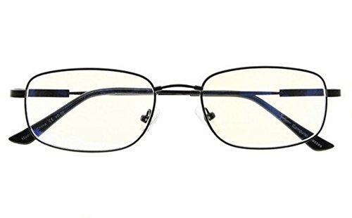 Computer Glasses Men Bendable Titanium Reading Eyeglasses Blue Light Filter