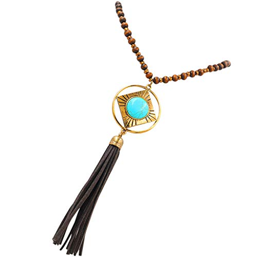 Long Sweater Chain Circle Stone Pendant Necklace Women Statement Jewelry 29 Necklace Jewelry Crafting Key Chain Bracelet Pendants Accessories Best| Color - -