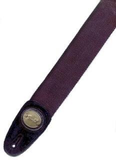 CORREA GUITARRA ELECTRICA - Fender (0667) Cotton (Negra) (Terminacion en Piel
