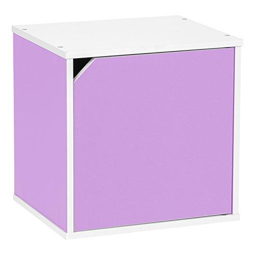 IRIS BAKU Modular Wood Cube Box with Door, (Modular Wood Shelves)
