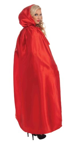 Forum Masquerade Cape, Red, One Size Costume (Historical Halloween Costume Ideas)
