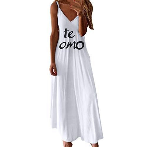 Plain Casual Loose Round Neck Sundress,Londony  Women's Maxi Dress Floral Printed Autumn Short Sleeve Dress -