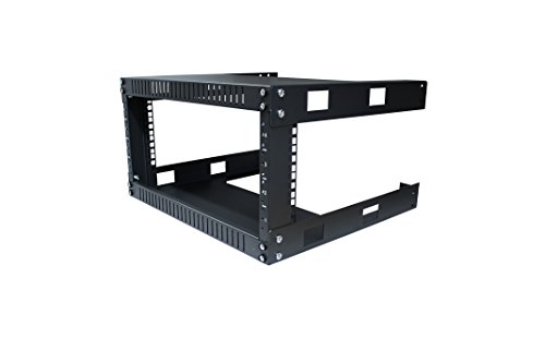 KENUCO 4U Wall Mount Open Frame Steel Network Equipment Rack 17.75 Inch Deep ()