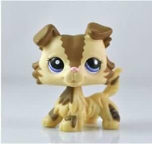 Grea Store Littlest Pet Shop LPS Pet Collie Dog Child Girl Figure Toy Loose Cute lps
